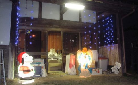 クリスマス装飾 サロン椿庵