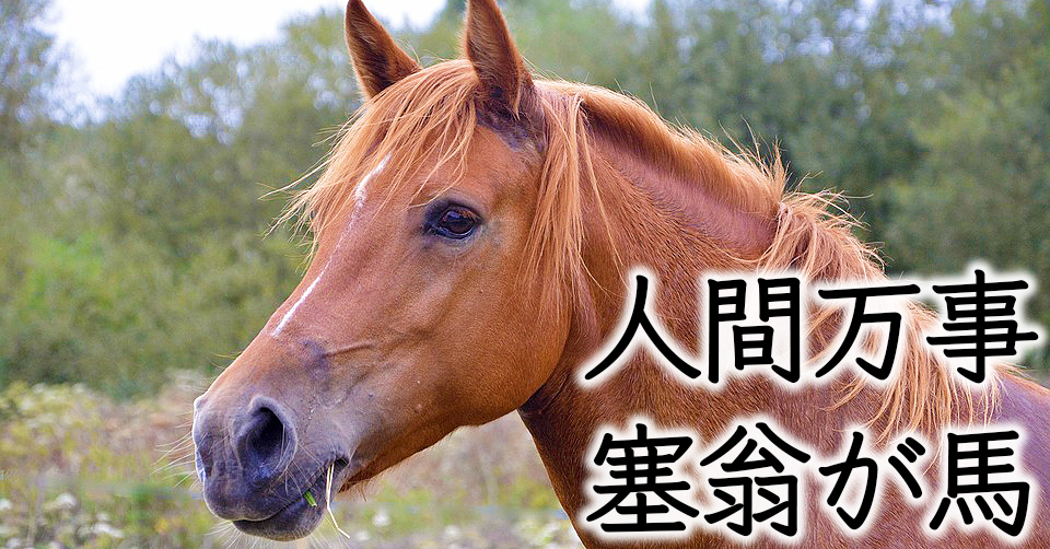 塞翁が馬 意味 万事 人間