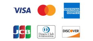 主要6ブランドのクレジットカード決済 / デビットカード決済に対応